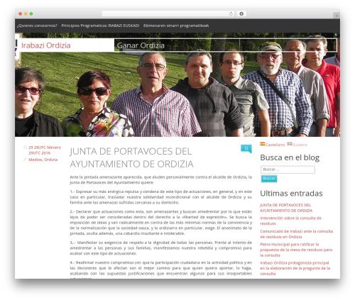 Swiss WordPress theme - ordizia.net