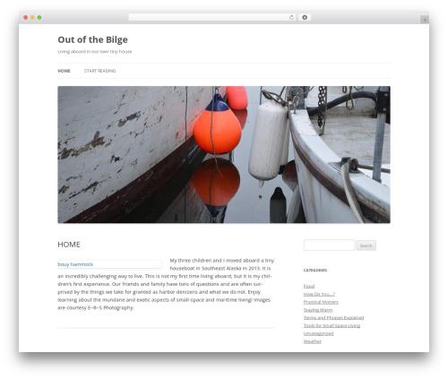 WordPress theme Twenty Twelve - outofthebilge.com