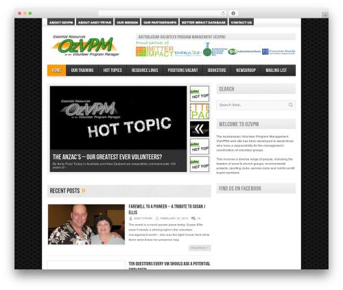 Avenue template WordPress free - ozvpm.com