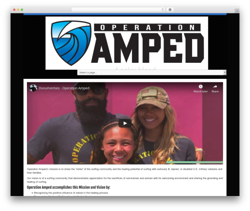 Operation Amped WordPress template - operationamped.org