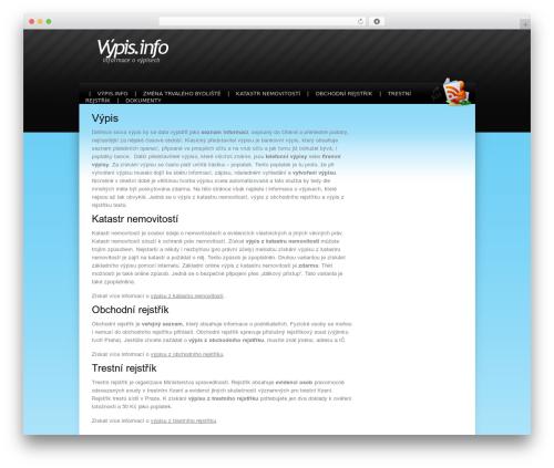 Stripey WordPress theme - vypis.info
