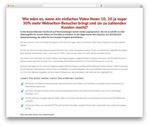 Twenty Fifteen WordPress video template - videomarketing-masterplan.de