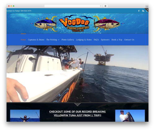Avada WordPress theme - voodoofishingcharters.com