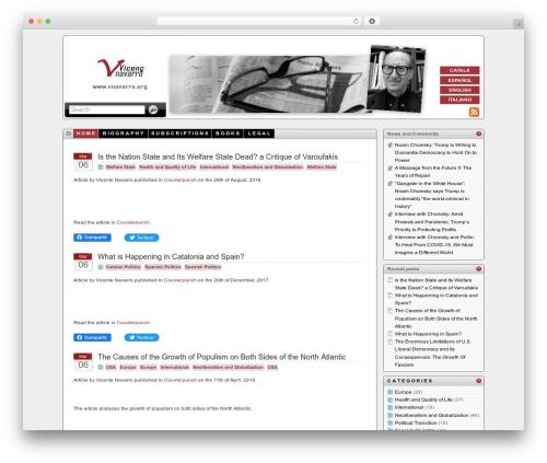 iTheme WordPress theme - vnavarro.org