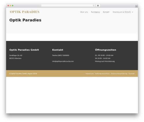MedZone WordPress theme - optikparadiessuchy.com