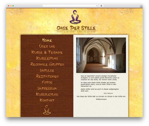 Oasis top WordPress theme - oase-der-stille.org