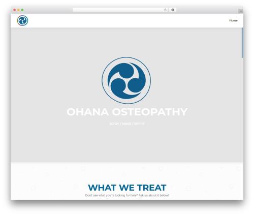 OnePirate WordPress template free - ohanaosteopathy.com