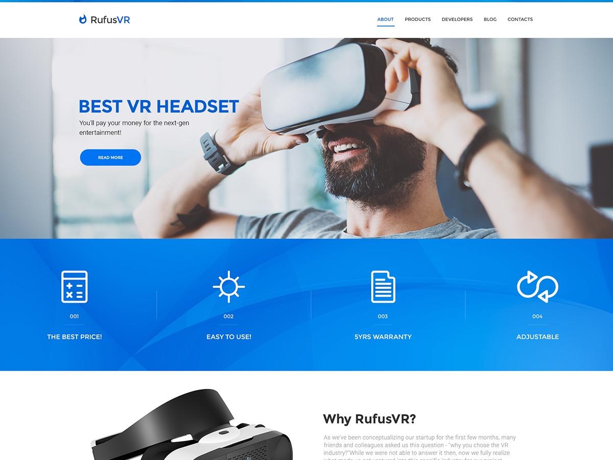 RufusVR WordPress theme