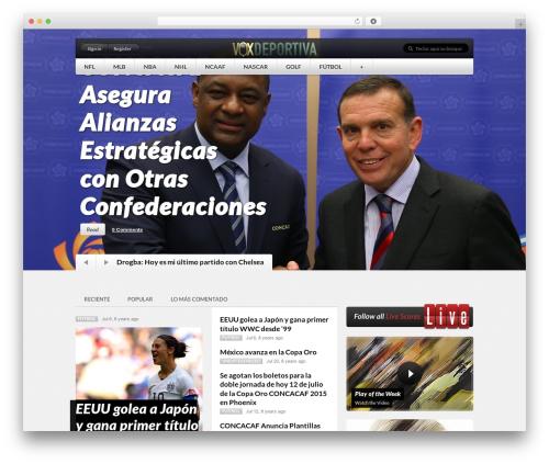 Theme WordPress Sportedge Child - voxdeportiva.com