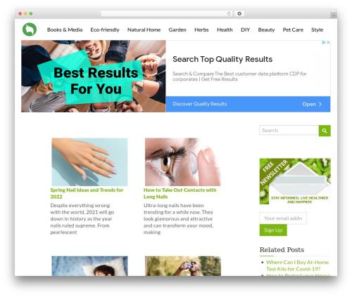 alterna9 garden WordPress theme - voxnature.com