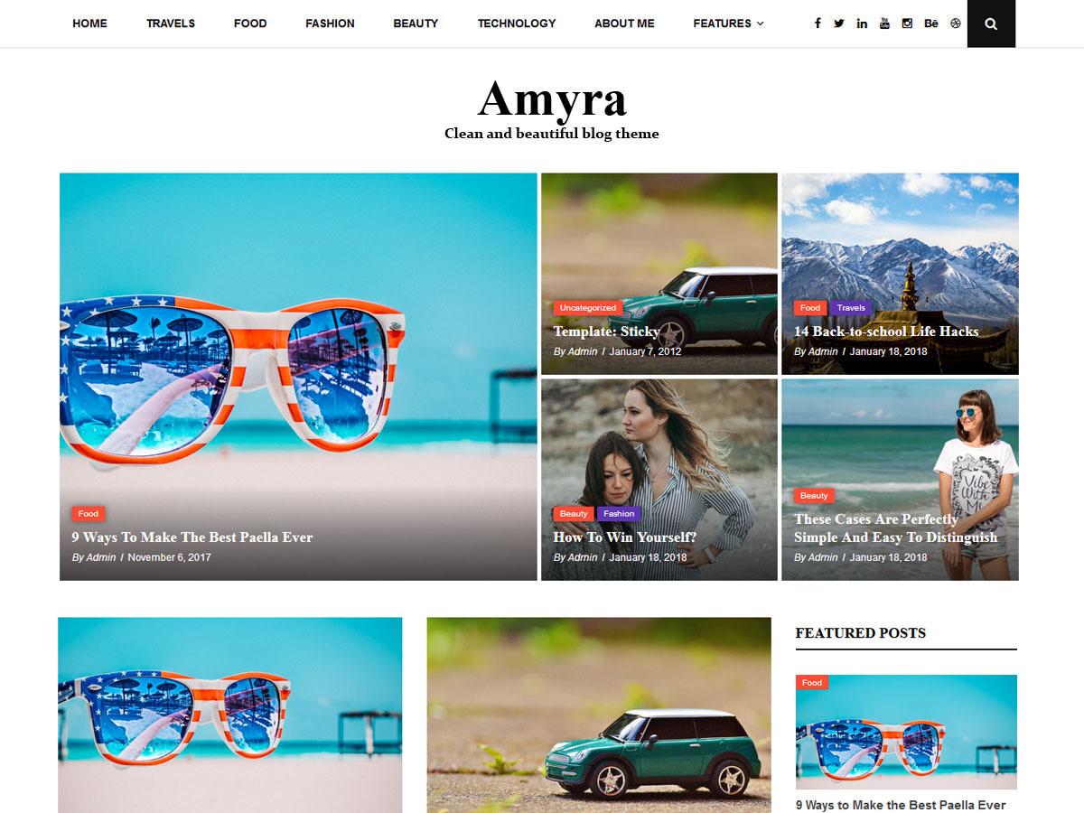 Amyra Lite WordPress blog theme