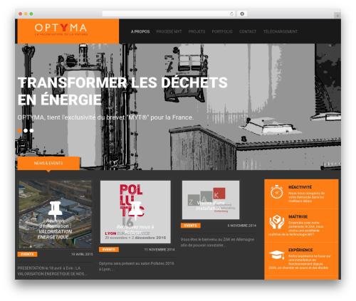 cherry WordPress theme - optyma.fr
