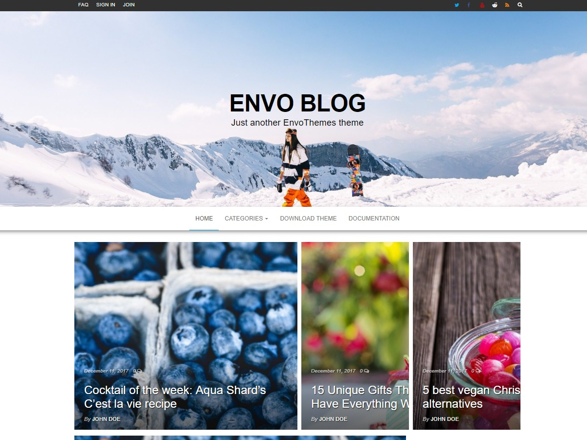 Envo Blog WordPress blog theme