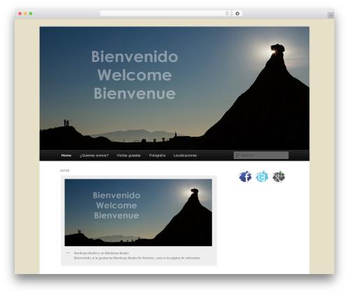 Twenty Eleven WordPress template free - visitarbardenas.com