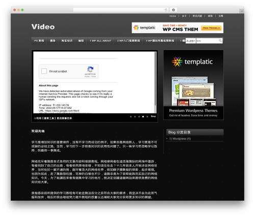 Video WordPress video template - onlinevideotrainingschool.com
