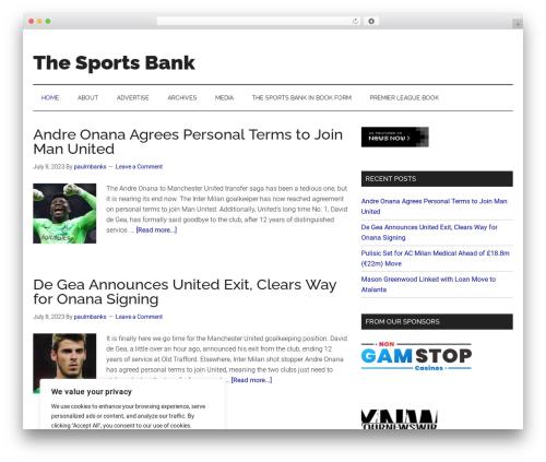 Best WordPress template Genesis - thesportsbank.net