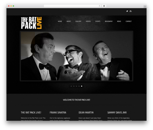 Best WordPress template Music Pro - theratpacklive.com