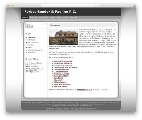 Blend WordPress template for business - fbpdlaw.com