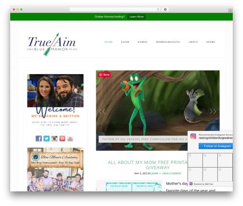 Bloom Theme template WordPress - trueaimeducation.com