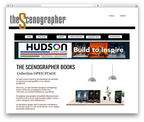 Booker WordPress news theme - thescenographer.org