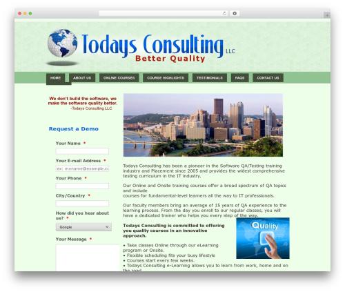 carolina best WordPress theme - todaysconsulting.com