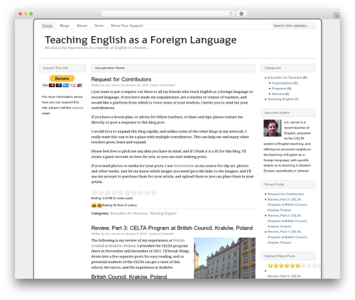 Catalyst theme WordPress - teaching-english.ebsarver.com