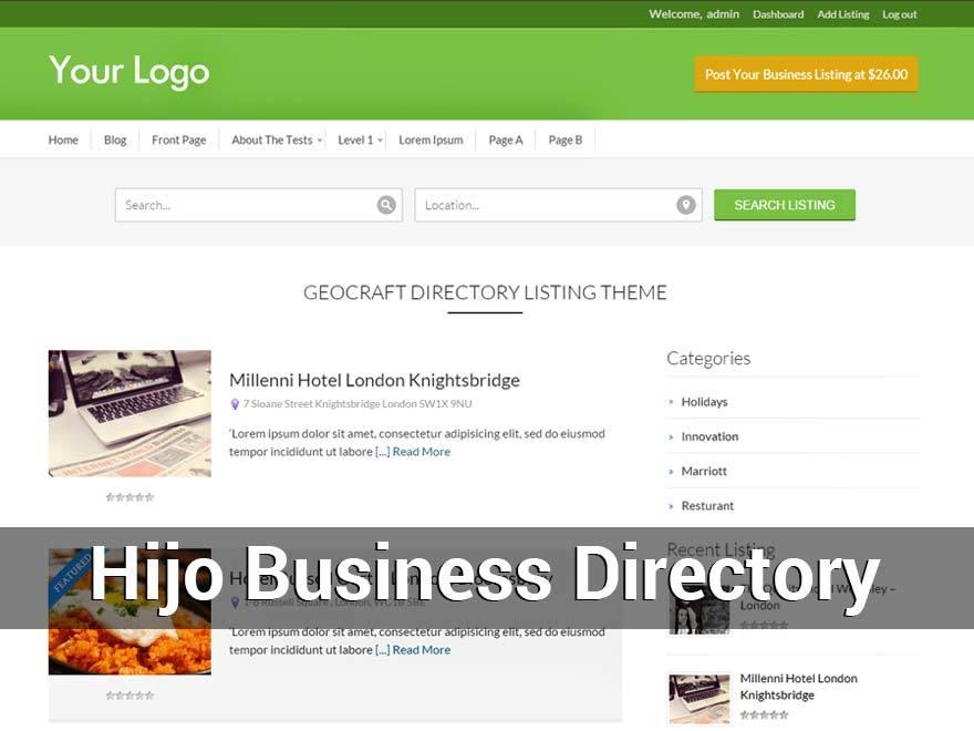 Child Business Directory business WordPress theme