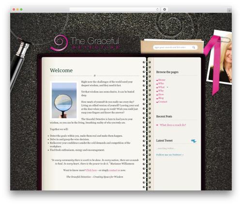 Diary/Notebook company WordPress theme - thegracefuldetective.co.uk