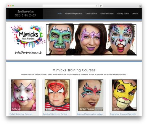 Encounters WordPress theme - facepaintingtraining.com