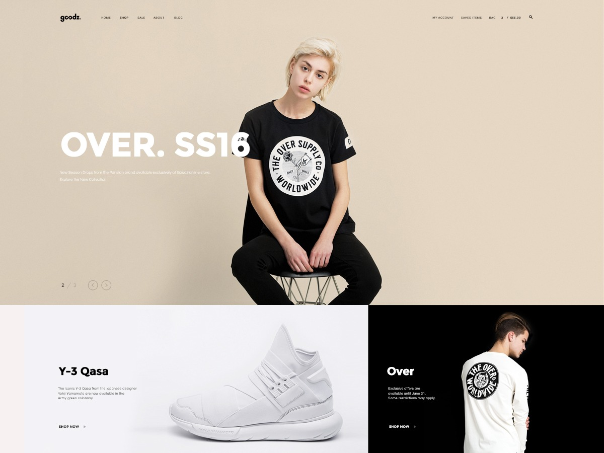 Goodz best WooCommerce theme
