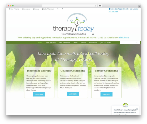 Klasik WordPress theme - therapytodaycc.com