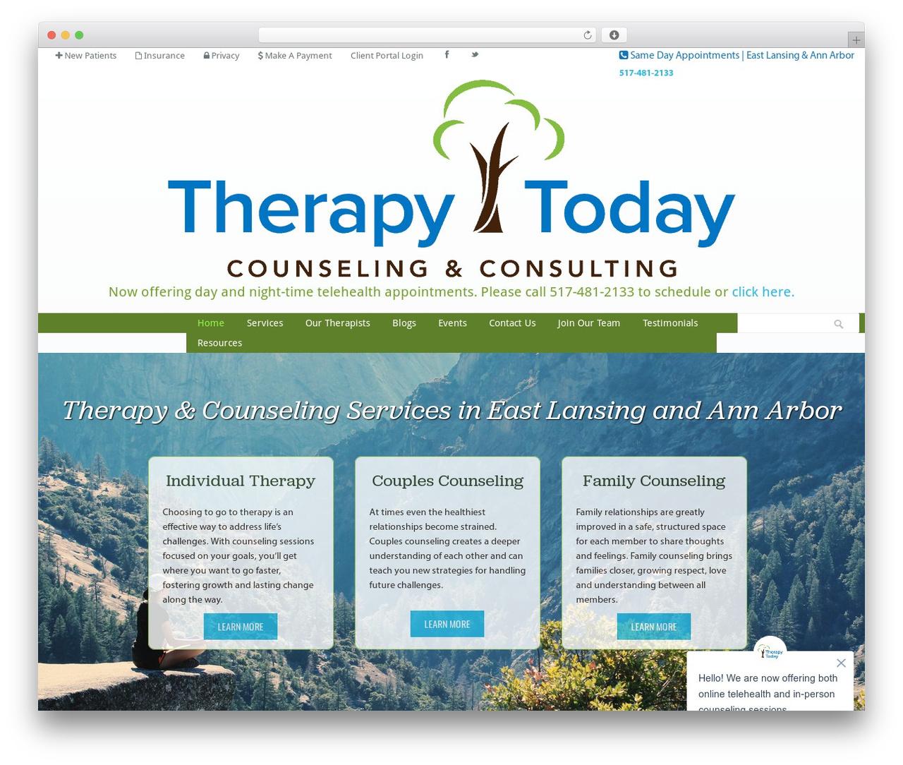 Klasik WordPress theme - therapytodaycc.com
