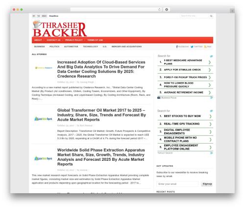 Newspaper WordPress news theme - thrasherbacker.com