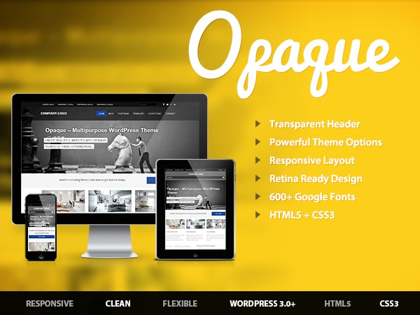 Opaque WordPress blog template