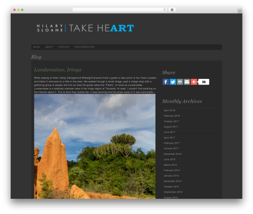 Photo Workshop WordPress blog theme - takeheart2.com/category/blog