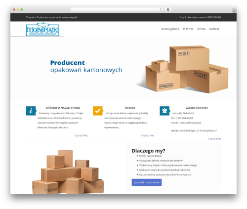 Pro Business template WordPress - tonpak.pl