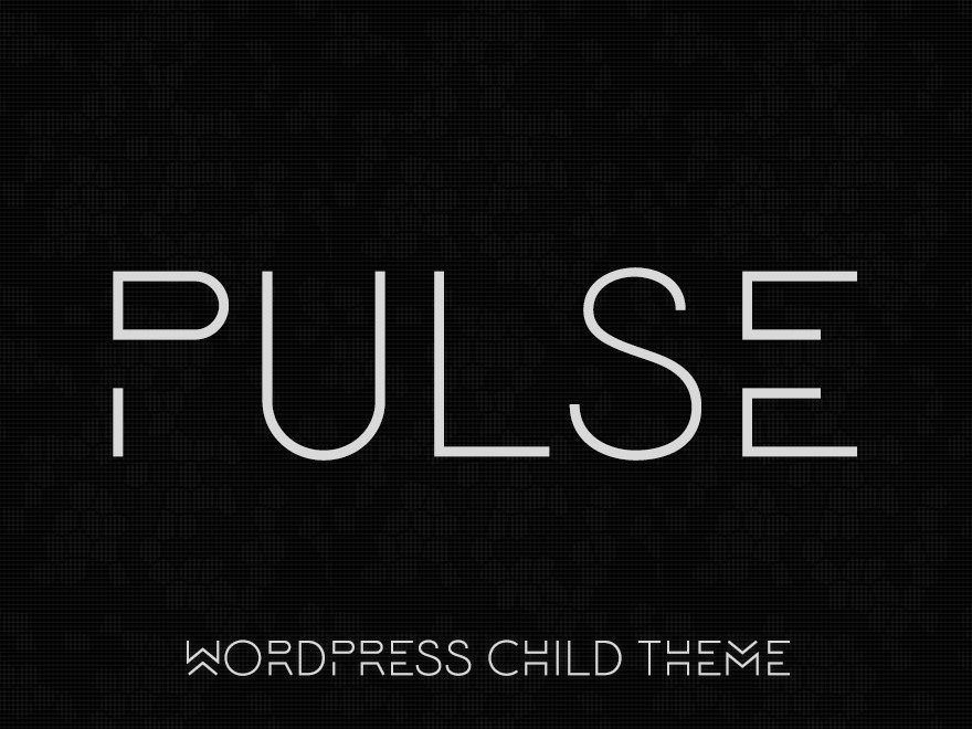 Pulse - WordPress Child Theme WordPress page template