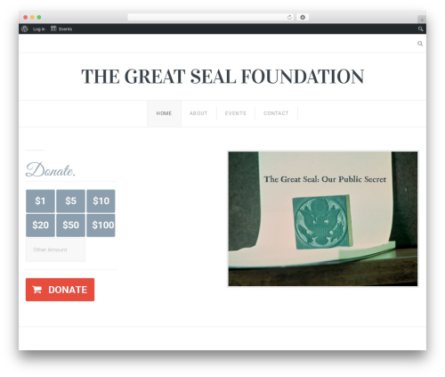 Senator WordPress theme - thegreatsealfoundation.org