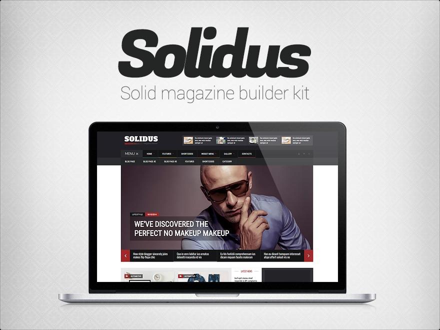 Solidus Premium Theme WordPress theme