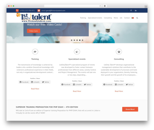 THBusiness free website theme - firstonlytalent.com