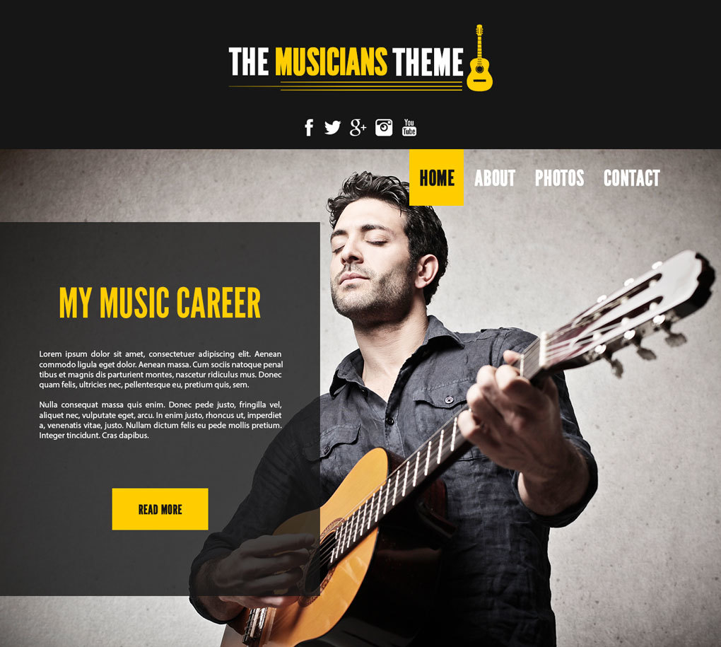 The Musicians Theme premium WordPress theme