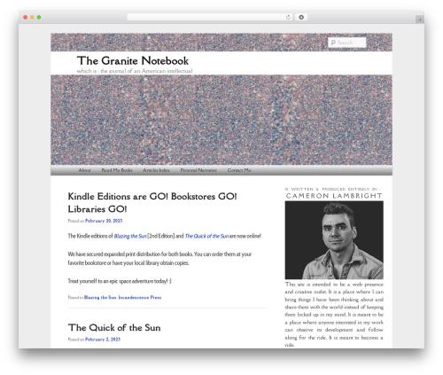 Free WordPress Twenty Eleven Theme Extensions plugin - thegranitenotebook.com