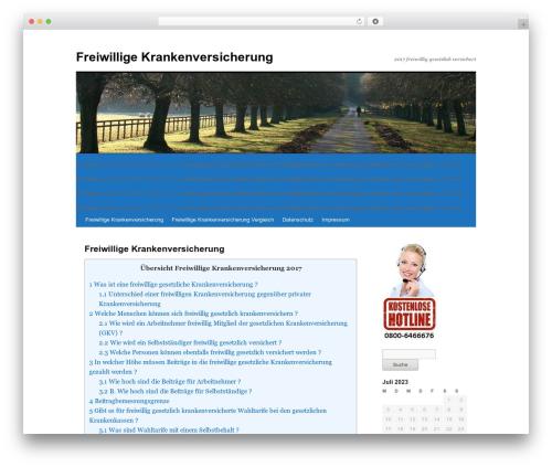 Twenty Ten best free WordPress theme - freiwilligekrankenversicherung.com