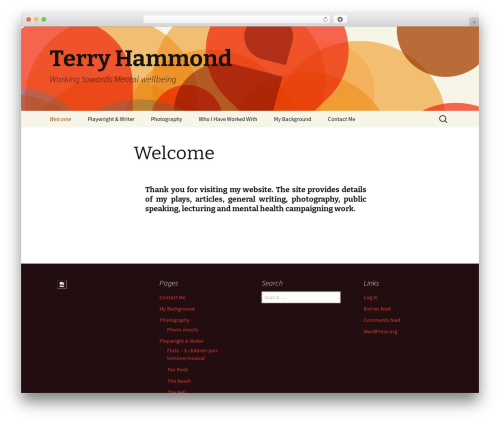 Twenty Thirteen free WordPress theme - terryhammond.org.uk