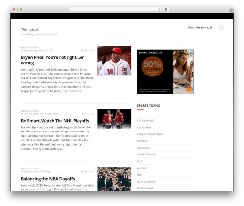 WordPress theme Blogit - thejockitch.com