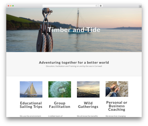 WordPress theme Divi - timberandtide.co.uk