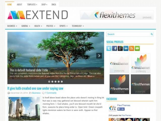 WordPress theme Extend