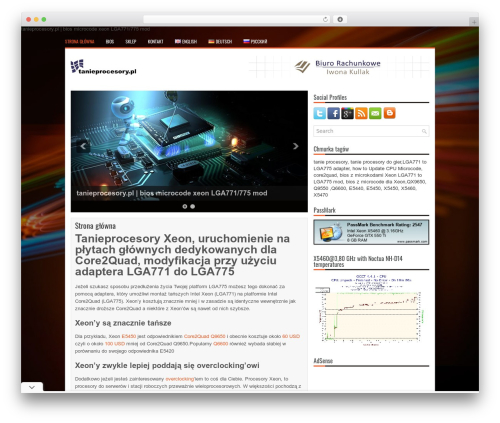 WordPress theme TechBits - tanieprocesory.pl