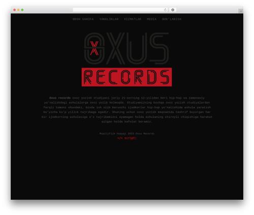 Encore WordPress theme - oxusrec.com