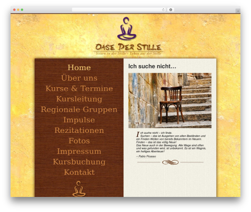 Oasis best WordPress theme - oase-der-stille.info